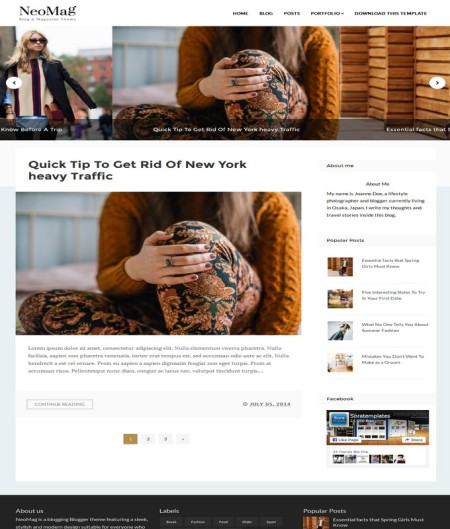 neo mag blogger template