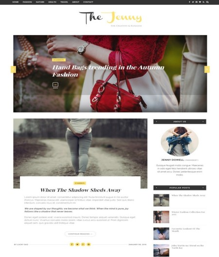 The Jenny Blogger Template