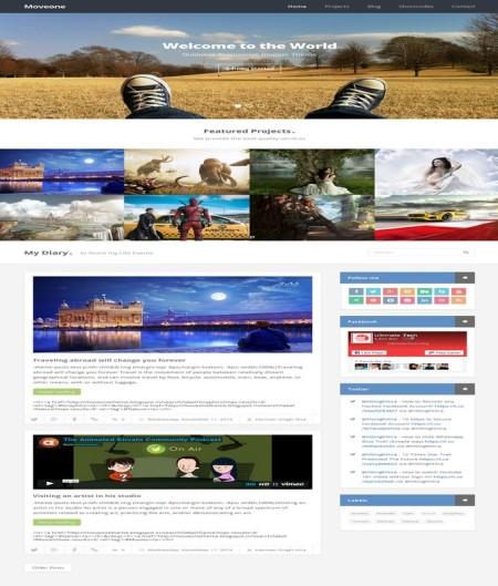 moveone blogger template