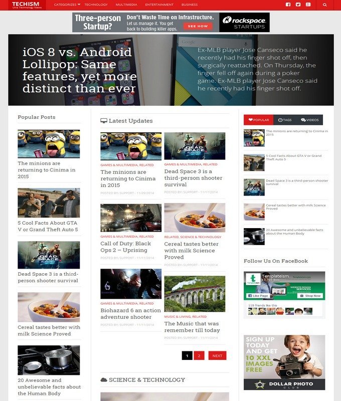 Techism Blogger Template