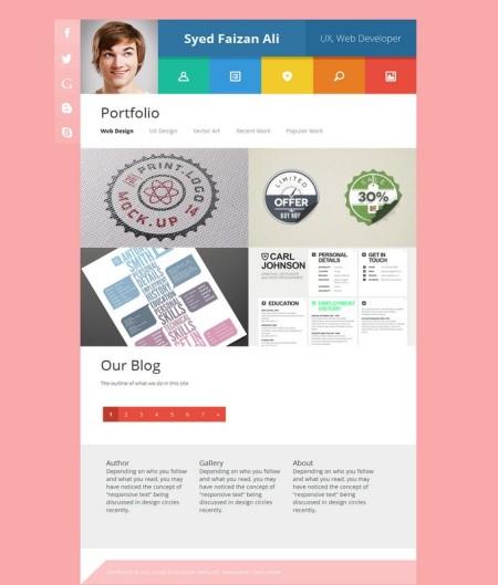 vcard-blogger-template