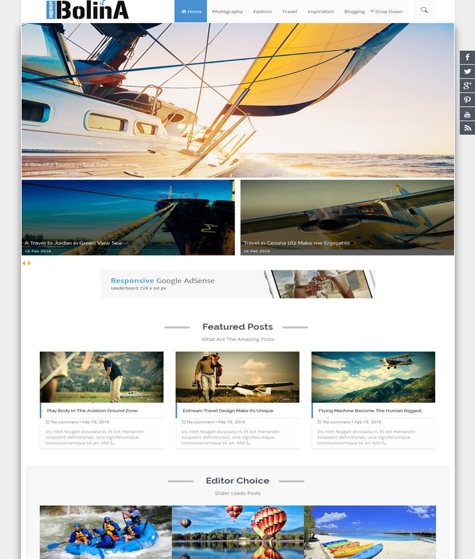 Bolina Blogger Template