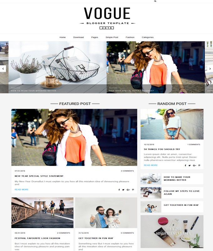 vogue-blogger-template