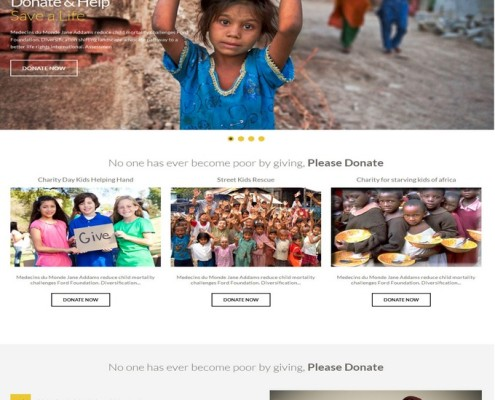 charity mag blogger template