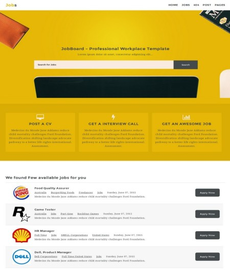jobs blogger template