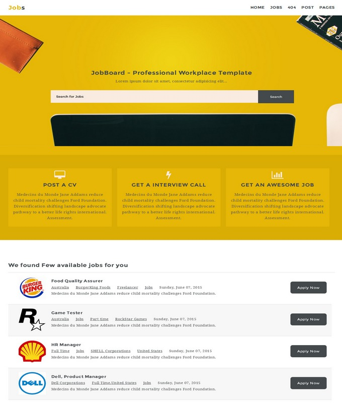jobs template for blogger  Jobs Blogger Template