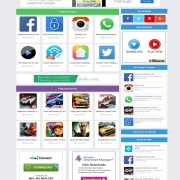 blue apk blogger template