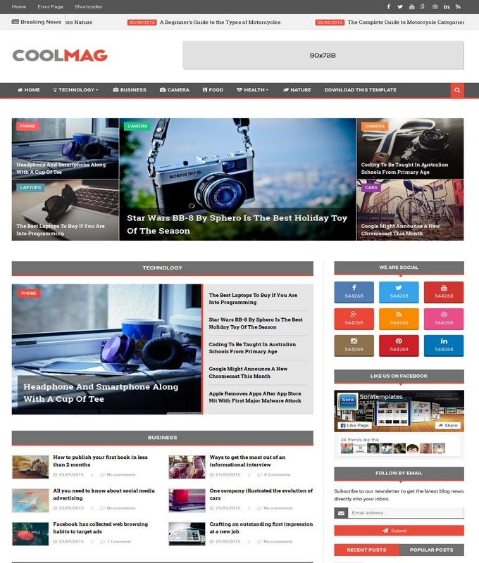 cool mag blogger template