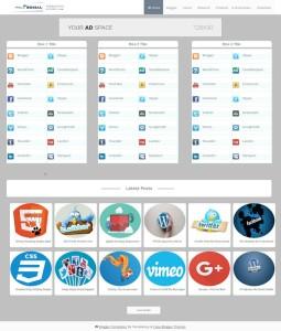 mega social blogger template