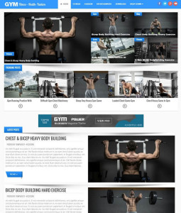 gym blogger template