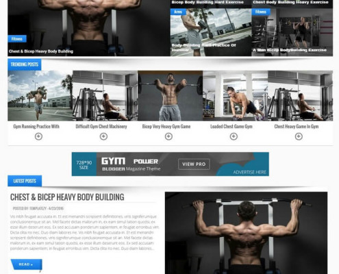 gym blogger template