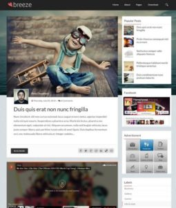 breeze blogger template