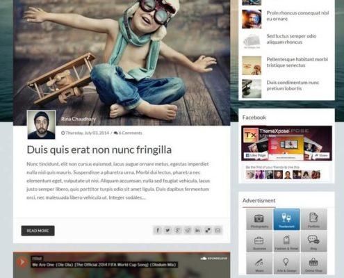 breeze blogger template