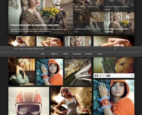 Expose Blogger Template