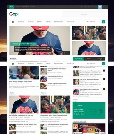 Gaps Blogger Template