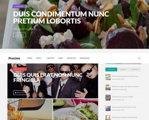 Proxima Blogger Template