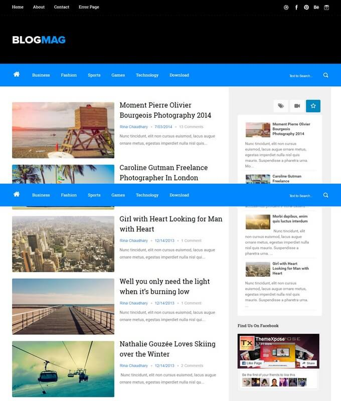 editable blogger templates free - blogmag blogger template free download