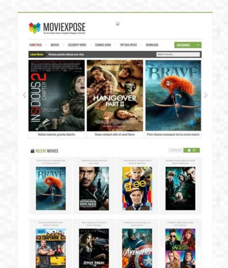 Movie Expose Blogger Template