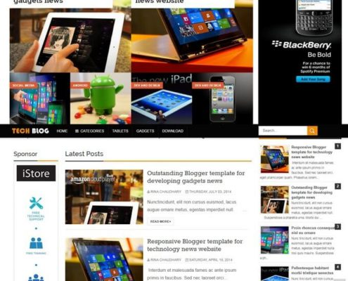 TechBlog Blogger Template