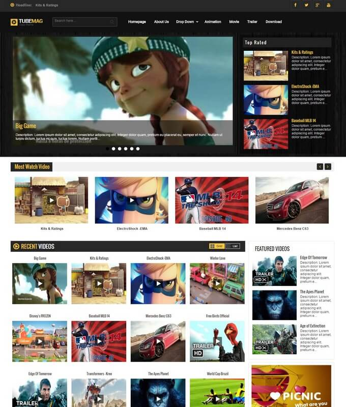 Movie Blogger Templates 2018 Free Download