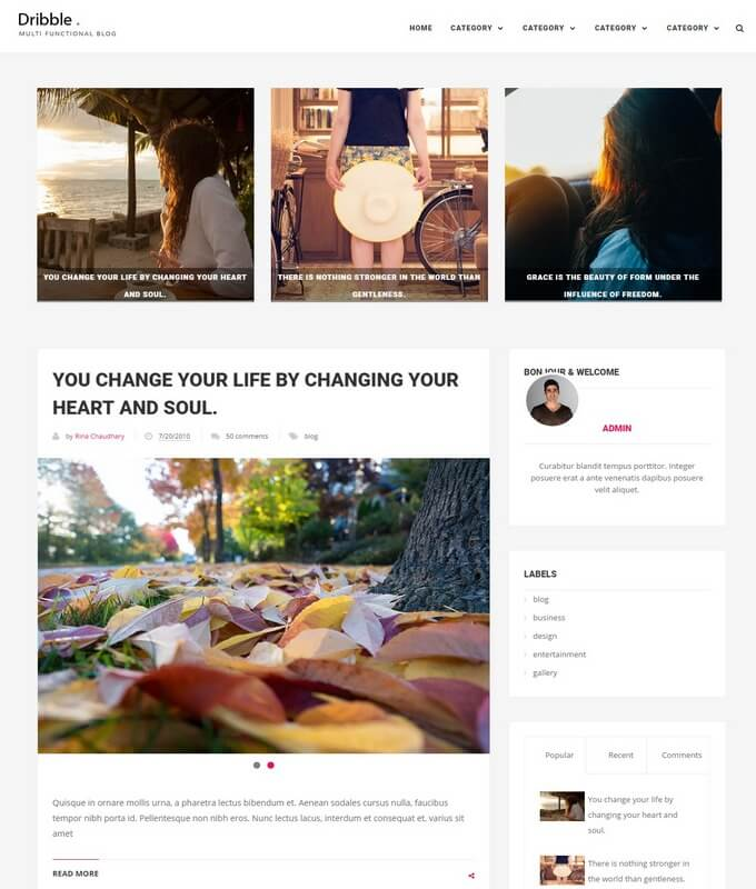 Dribble Blogger Template