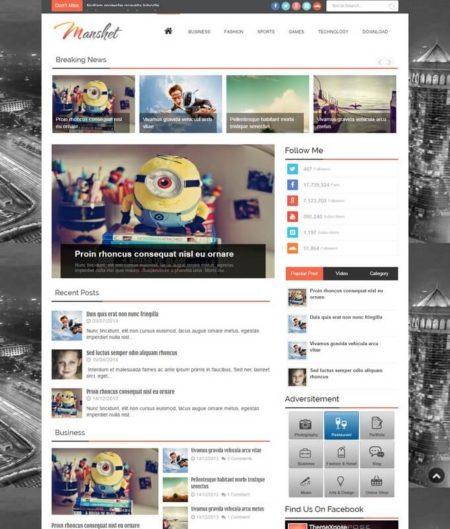 manshit blogger template
