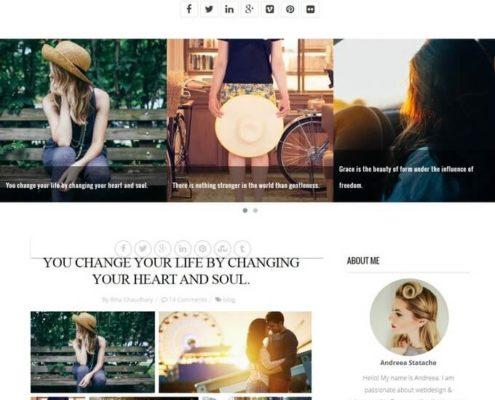 persona blogger template
