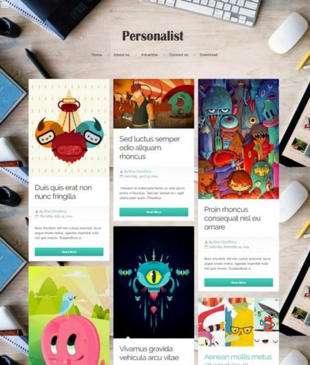 Personalist Blogger Template