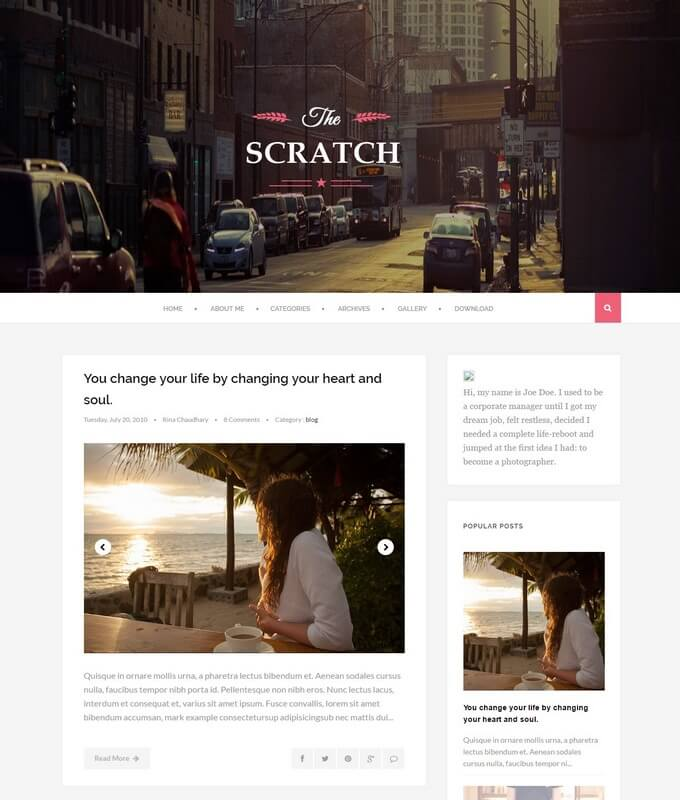 Scratch Blogger Template Free Download