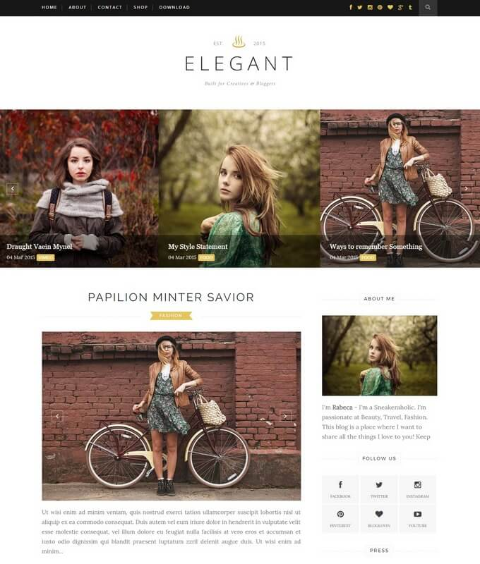 elegant blogger template