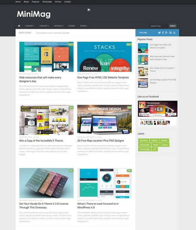 Minimag blogger template free download for Xml templates for blogger free download