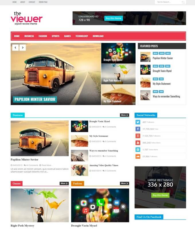 Blogger Templates | Viewer Blogger Template Free Download