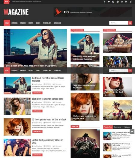 Wagazine Blogger Template