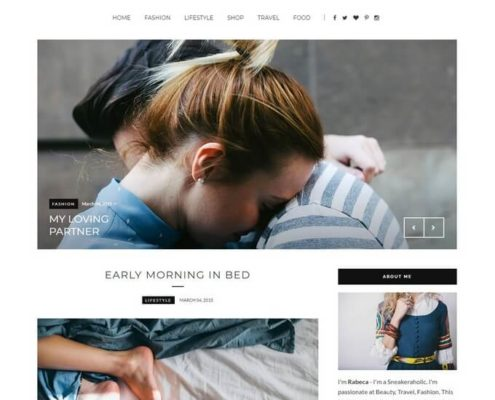 RoseMary Blogger Template