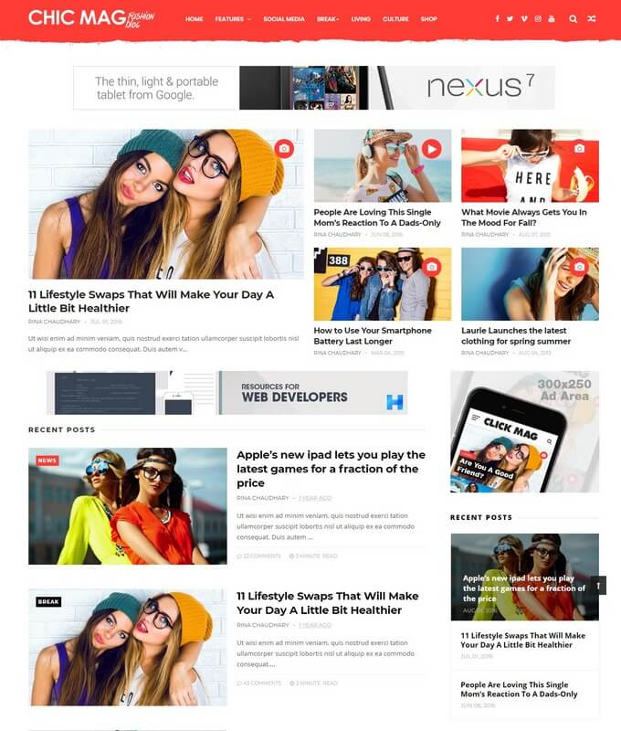 ChicMag Blogger Template Free Download