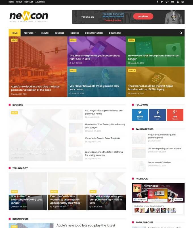 Newcon blogger template free download newcon blogger template wajeb Images