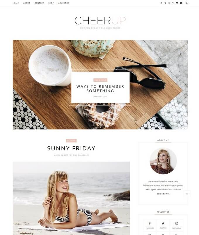 CheerUp Blogger Template