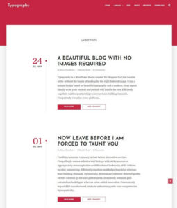 typography-blogger-template