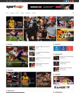 sportsmag blogger template