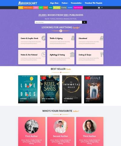 BooksCart Blogger Template