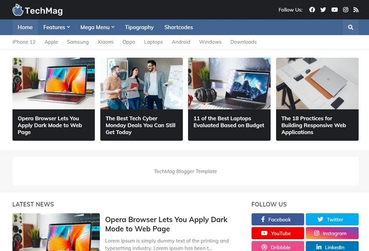 TechMag Blogger Template