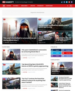 Gameify Blogger Template