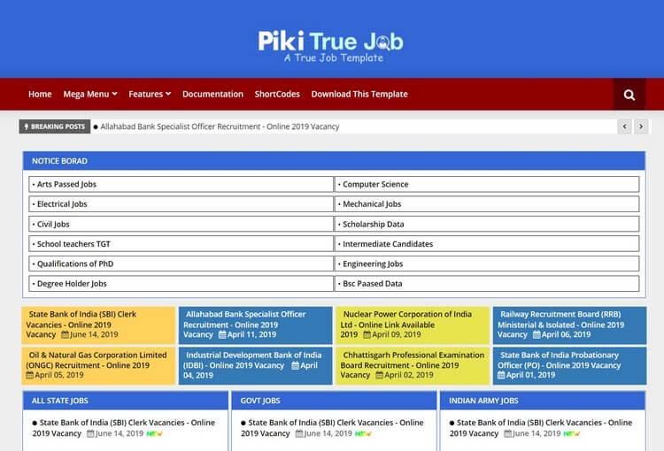 Piki Job Blogger Template