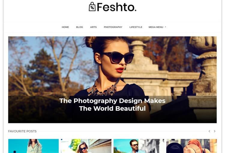 Feshto Blogger Template